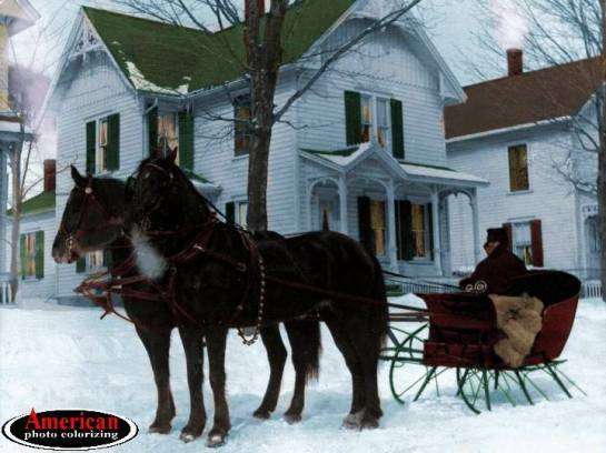 1895 - Two-Horse Open Sleigh